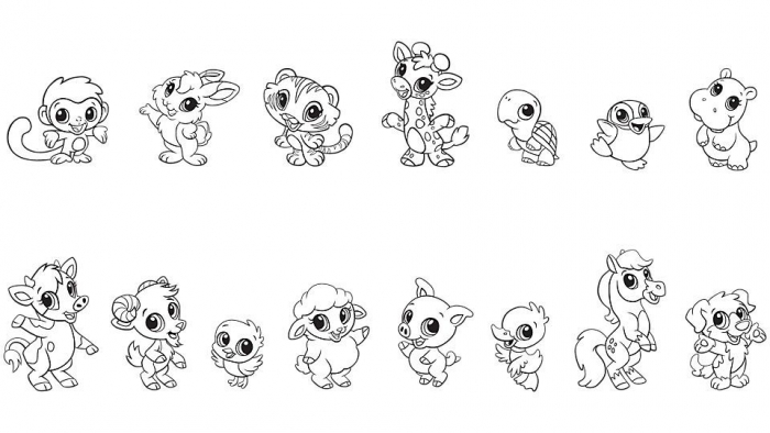 Baby Animal Coloring Pages