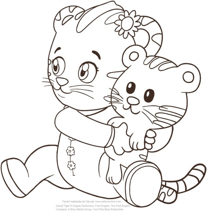Baby Margaret The Sister Of Daniel Tiger Coloring Page To Print