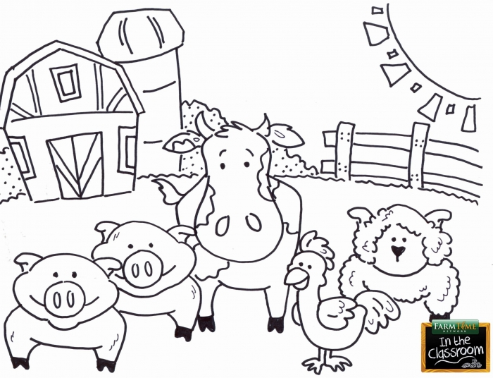Barnyard Animal Coloring Pages In