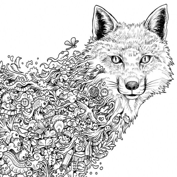 Coloring Pages For Adult Abstract And Art  Hard To Color