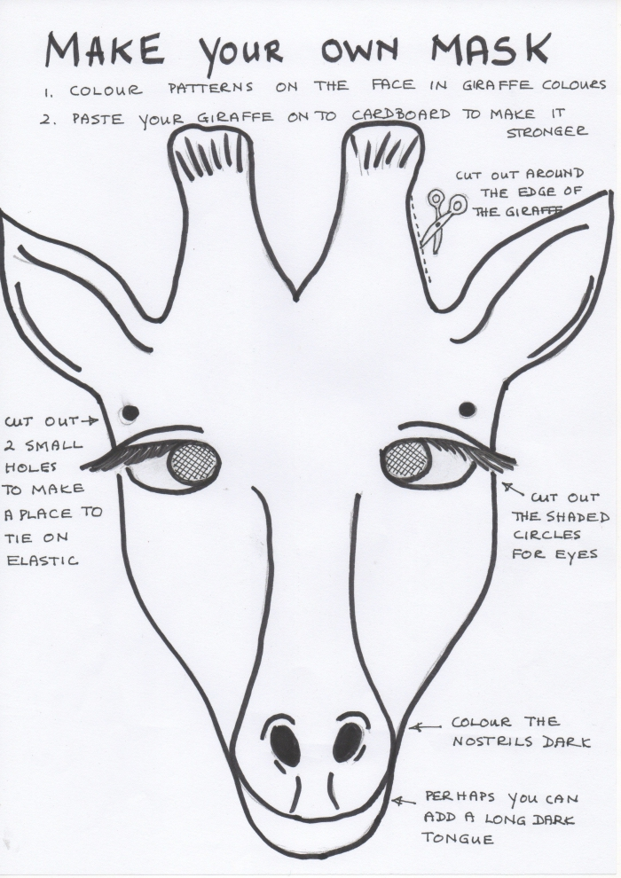 Free Coloring Pages Download  Enchanting African Mask Template