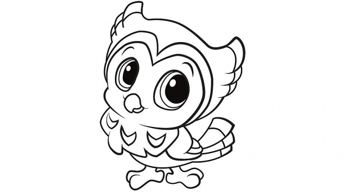 Learning Friends Owl Coloring Printable