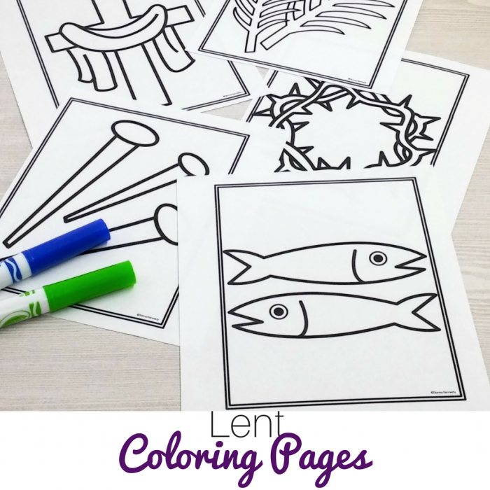 Lent Coloring Pages For Catholic Kids