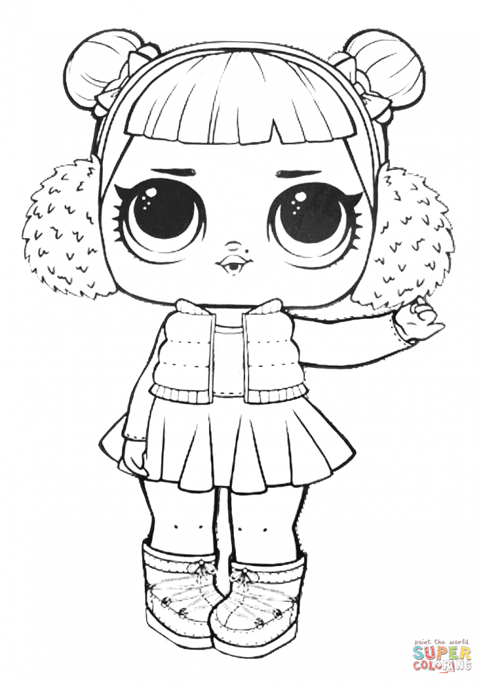 Lol Surprise Doll Snow Angel Coloring Page