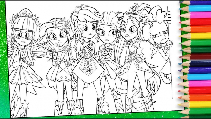 My Little Pony Equestria Girls Coloring Page Mlp Eg Colouring Book