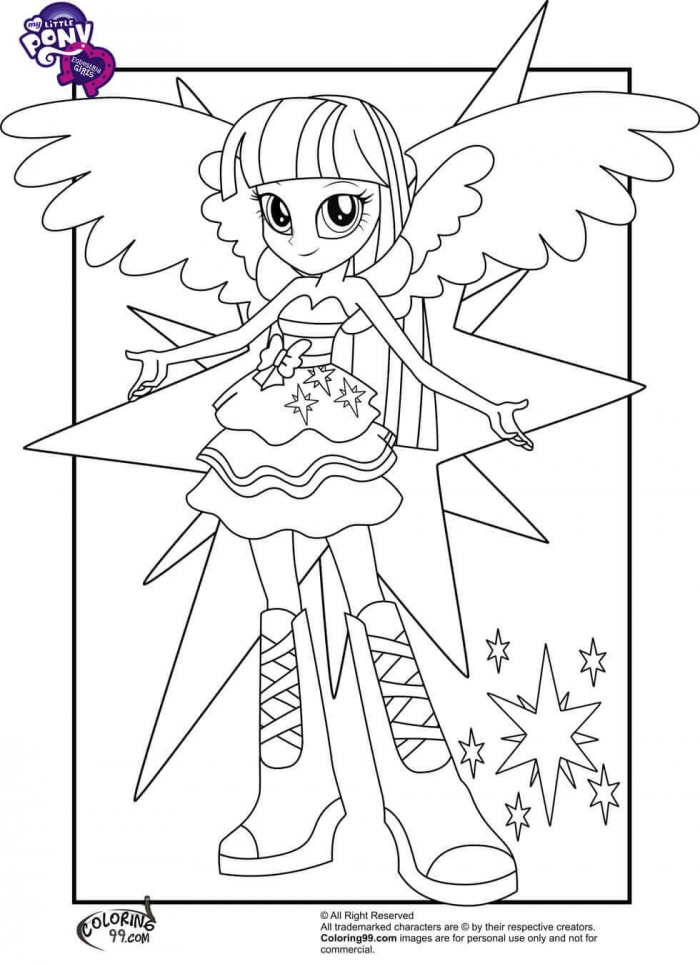 Printable My Little Pony Equestria Girls Coloring Pages