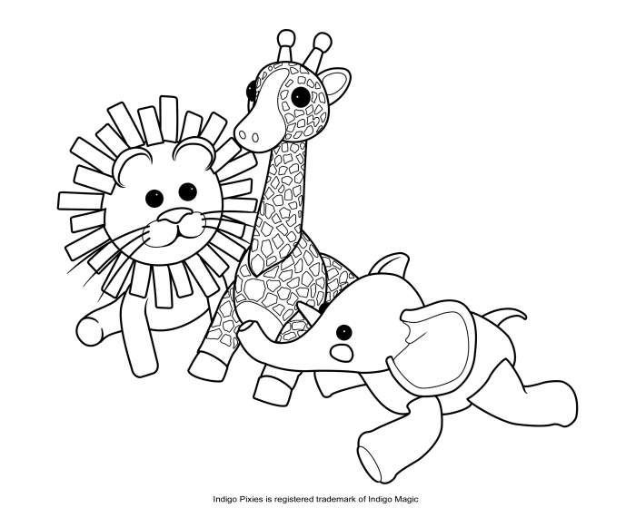 Stuffed Animal Coloring Pages