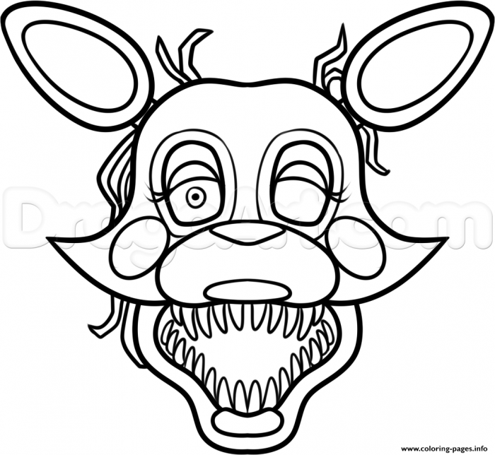 Mangle From Five Nights At Freddys  Fnaf Coloring Pages Printable
