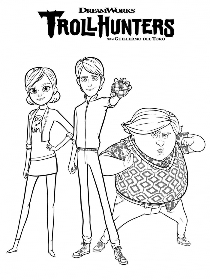 Trollhunters Coloring Pages Printable
