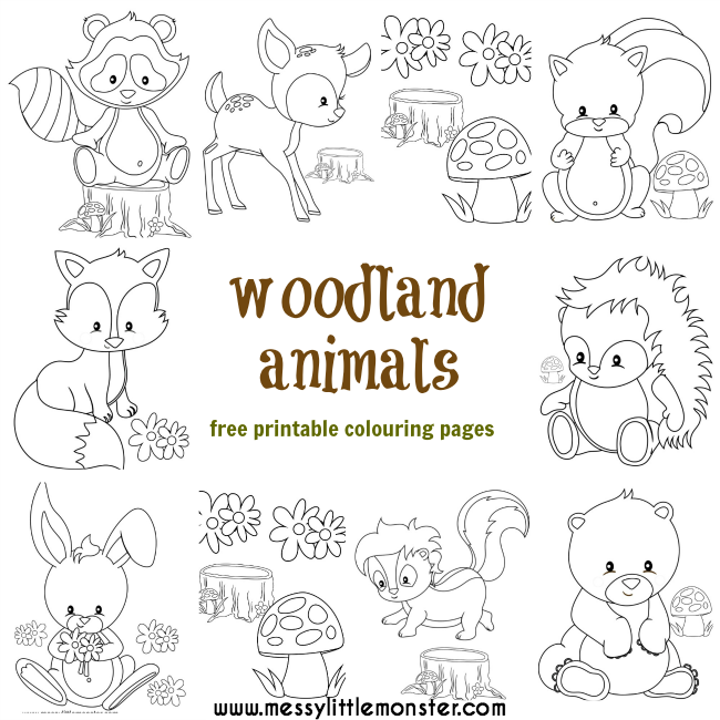 Astonishing Woodland Creatures Coloring Pages  Azspring