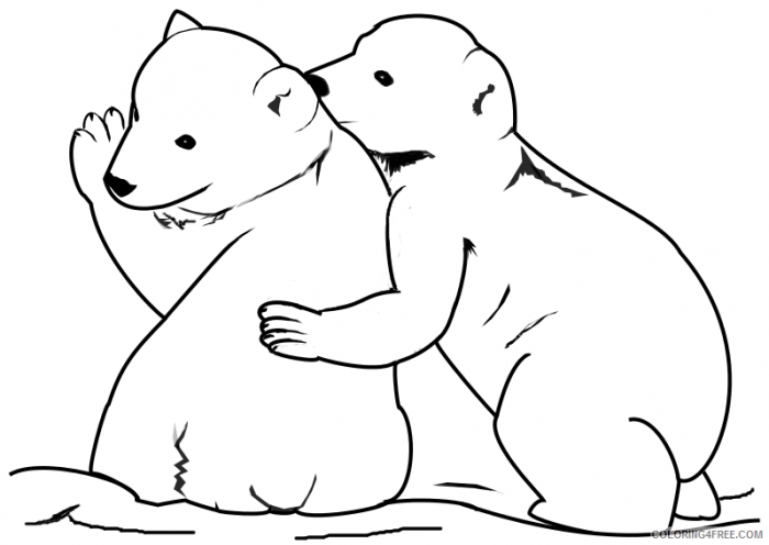 Baby Polar Bear Coloring Pages Coloringfree