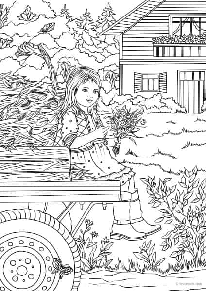 Country Living Farm Coloring Pages - Free Printable ...