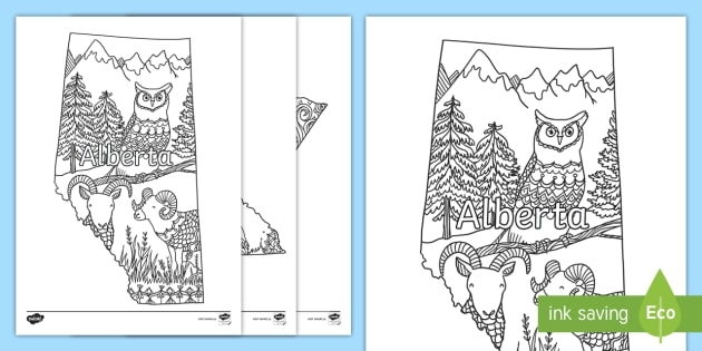 Canadas Provinces And Territories Mindfulness Colouring Pages