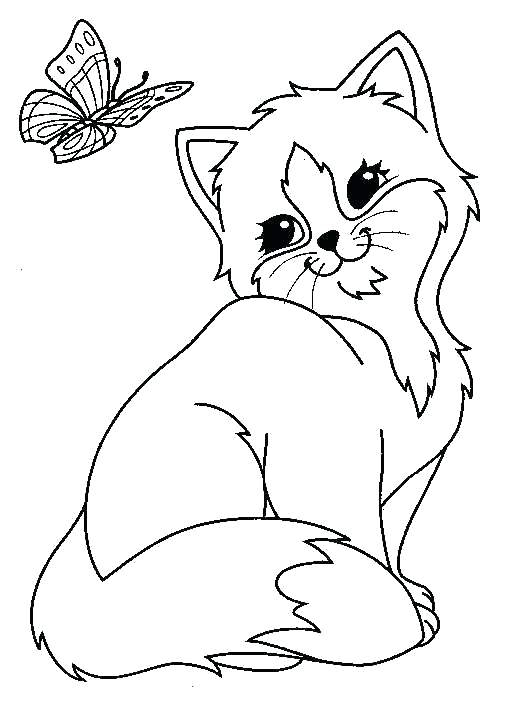 Coloring Cute Cat Coloring Pages Of Cute Cats At Getdrawings Free