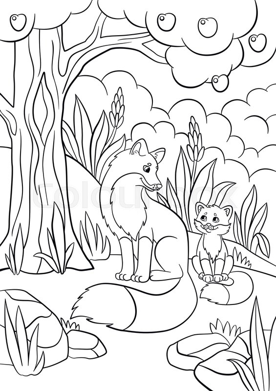 Coloring Pages Wild Animals Mother