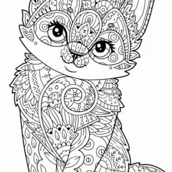 Free Printable Animal Coloring Pages For Adults Owl Mandala Cat