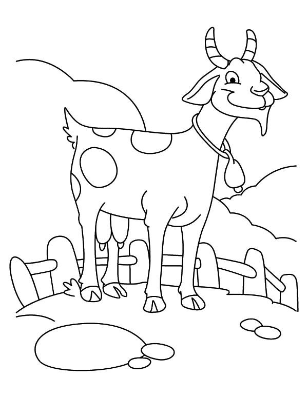 Goat   Farming Goat Coloring Pages