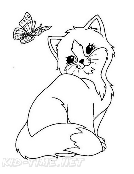 Kitten Coloring Book Free Printables Kittens Cat Outstanding Math