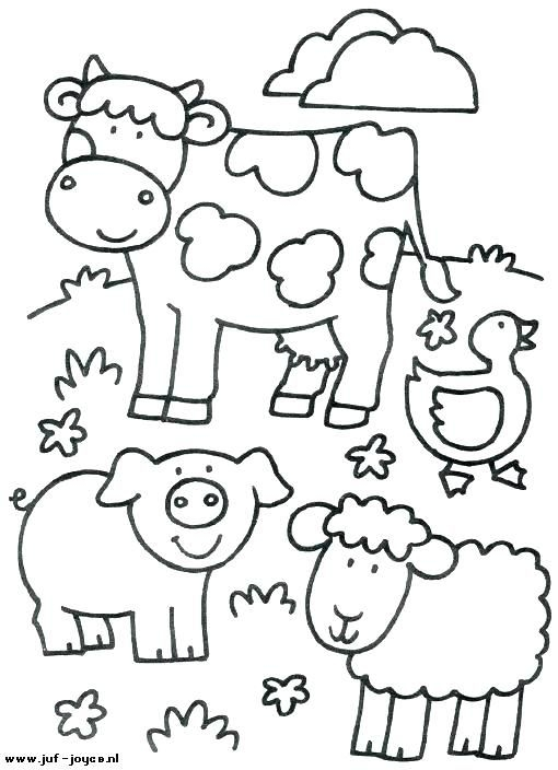 Remarkable Farm Animal Coloring Pages For Toddlers Photo