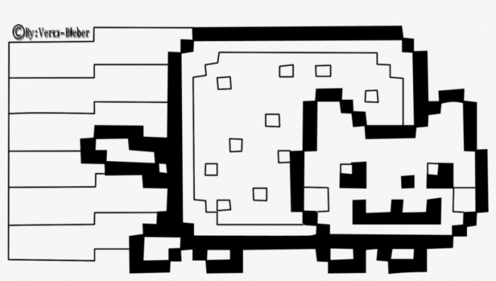 Shocking Nyan Cat Clipart Pics Of Coloring Page Popular