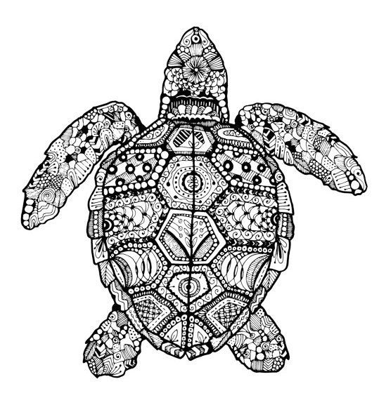 Turtle Mandala Coloring Pages - Free Printable Coloring Sheets