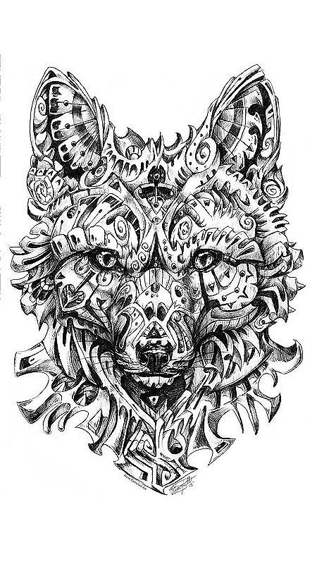 Wolf Coloring Page