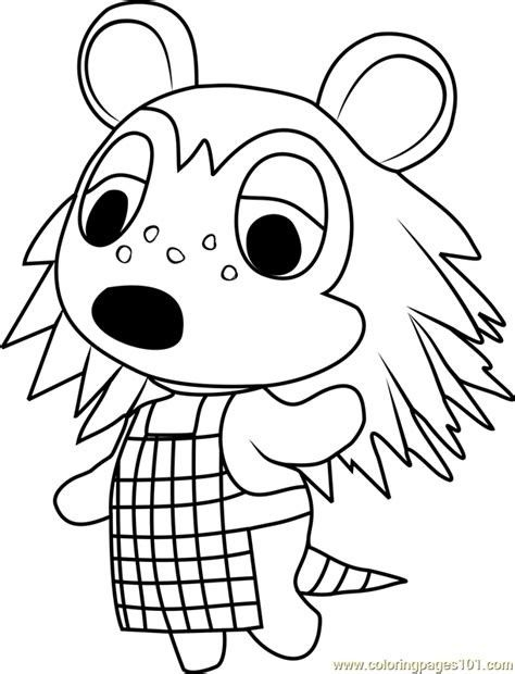 Animal Crossing Free Colouring Page