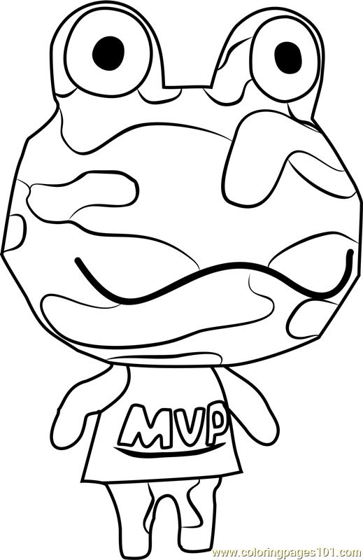 Camofrog Animal Crossing Coloring Page