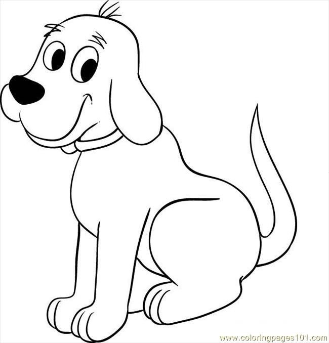 Cifford The Big Red Dog Step  Coloring Page