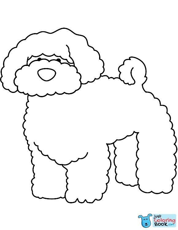 Funny Bichon Coloring Page Free Printable Coloring Pages Inside