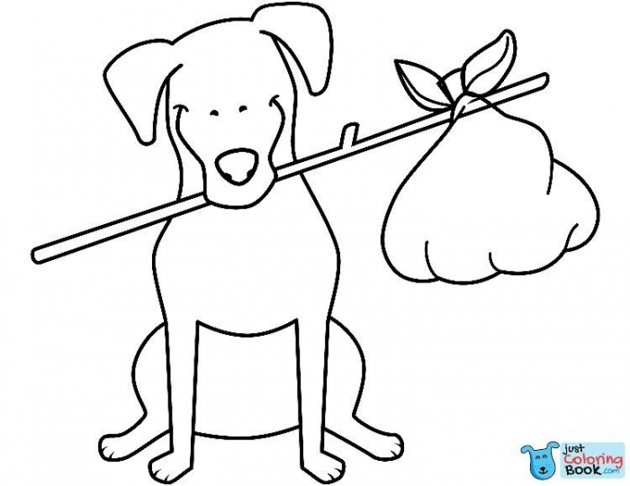 Funny Jack Russell Terrier With Bundle Coloring Page Free With