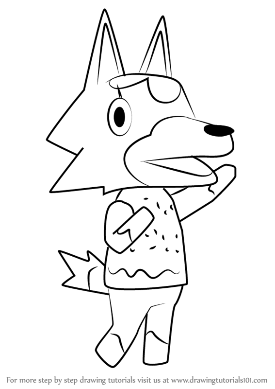 Learn How To Draw Skye From Animal Crossing Animal Crossing Step