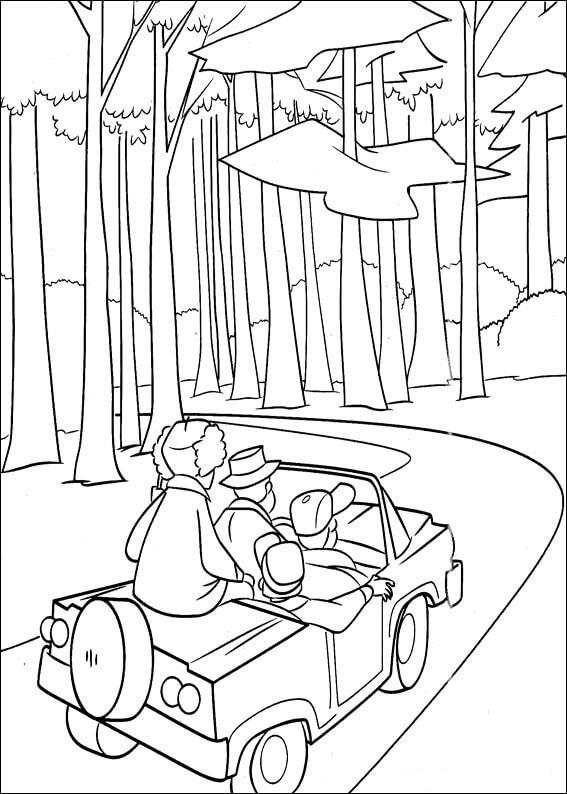Printable Hunters In The Forest Coloring Page For Both Aldults And
