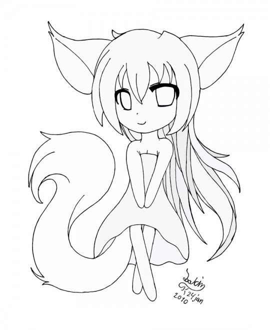 Anime Printable Coloring Pages