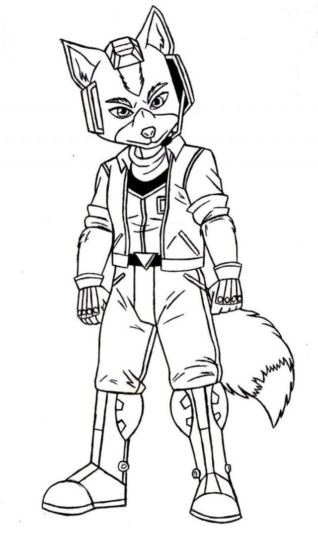 Star Fox Coloring Pages Printable Coloring Sheet Coloring Com