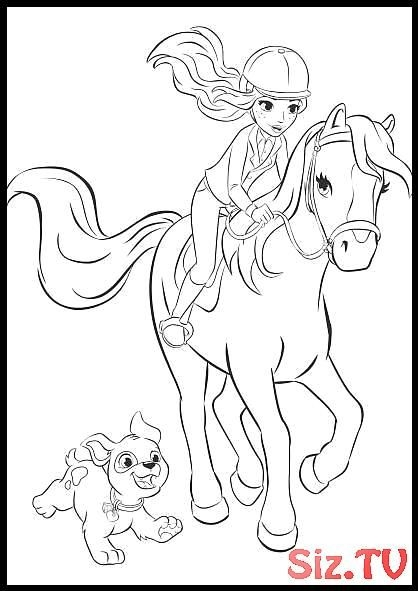 Coloring Page Pictures Lego Friends Horses Coloring Page