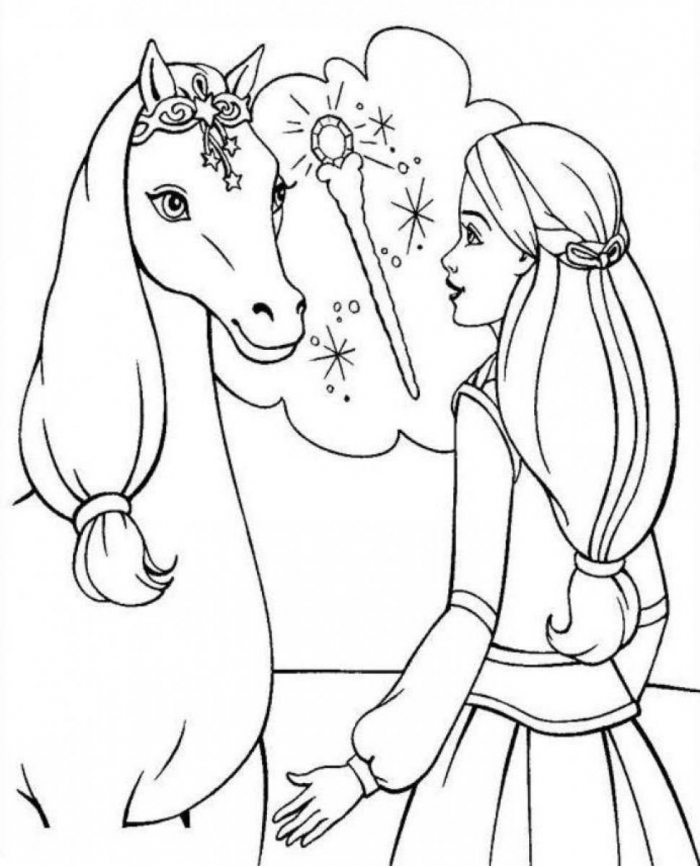 Coloring Pages For Girls Horse Free Home Marvelous Printable