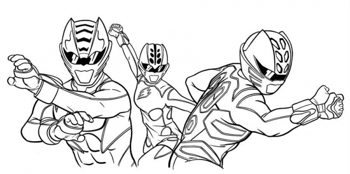 Power Rangers Team Jungle Fury Coloring Pages For Kids Gwt