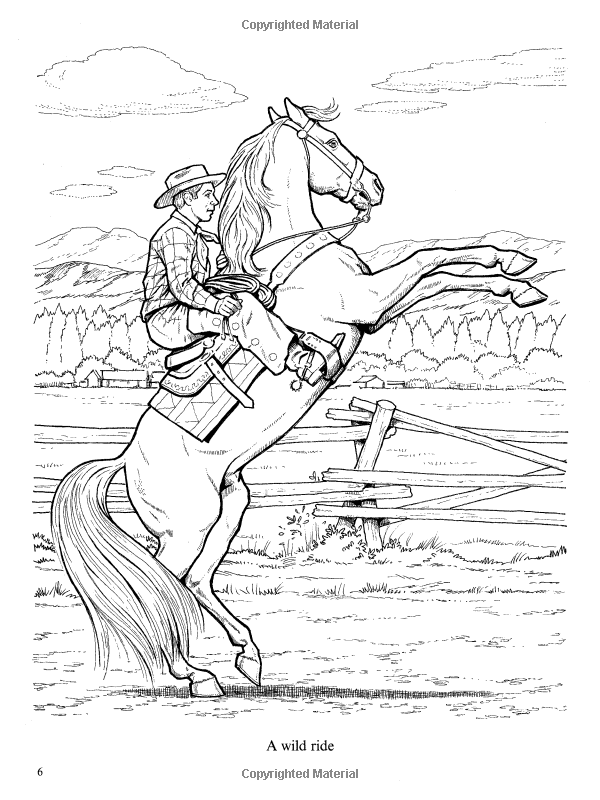 Wonderful World Of Horses Coloring Book Dover Nature Coloring