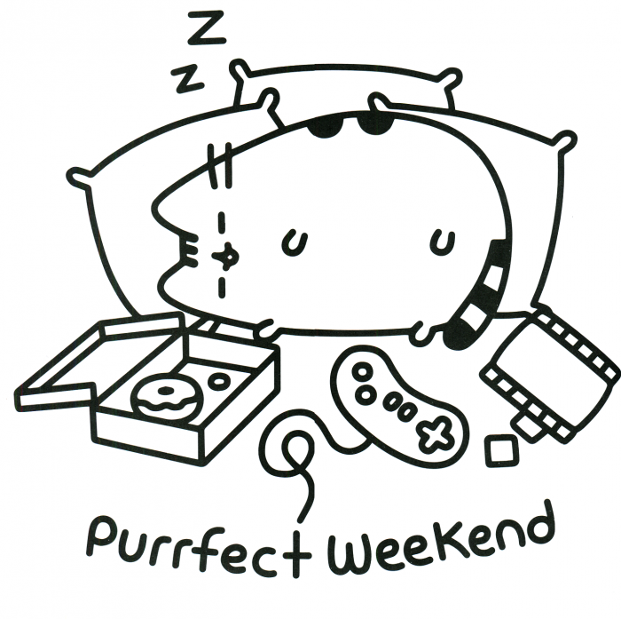 Coloring  Pusheen Coloring Pages Sleepy Cat To Print Fancy For