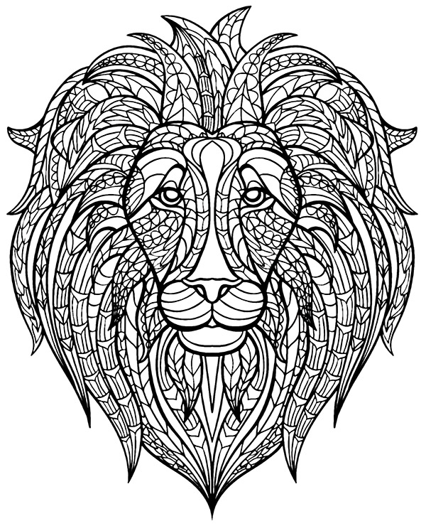 Coloring Page Lion To Print Or Download For Free