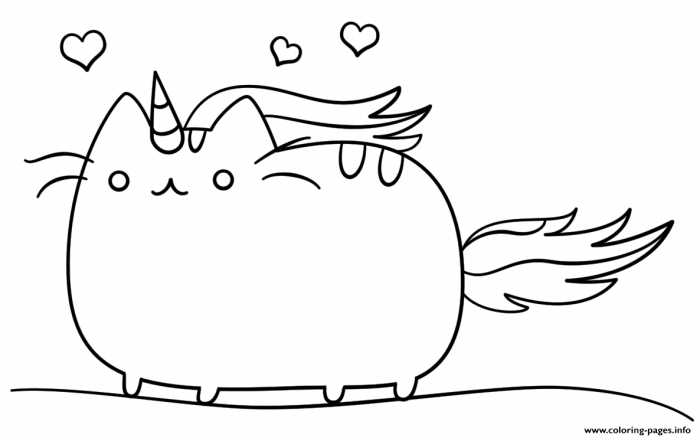 Coloring Pages  Kawaii Cat Unicorn Coloring Pages Printable Book