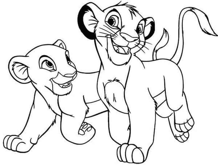 Nala Lion King Coloring Pages