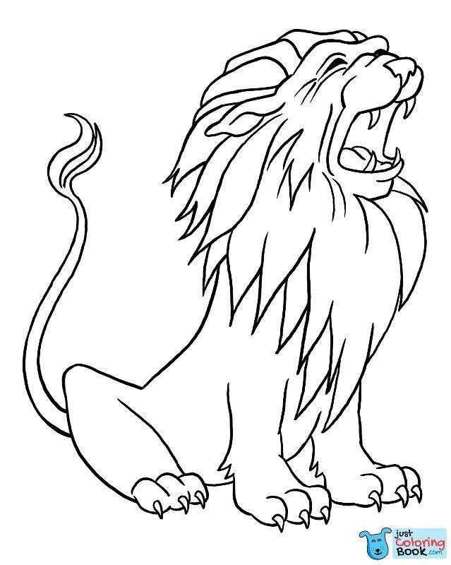 Pin Di Lion Coloring Pages