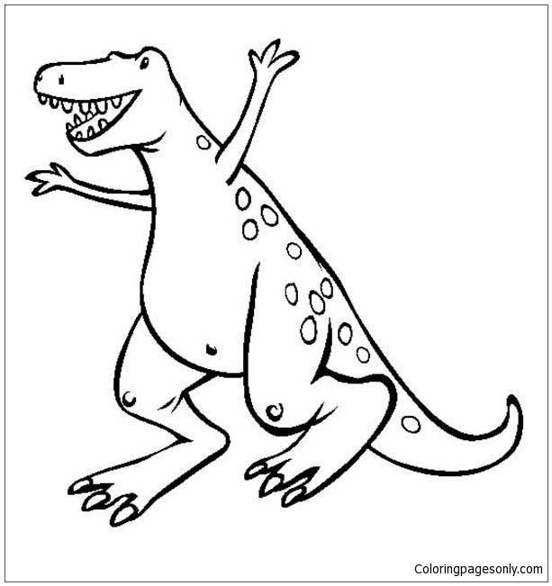 A Very Happy T Rex Coloring Pages