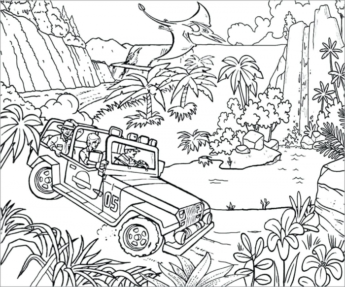 Coloring Pages  Lego Jurassic World Coloring Pages Park