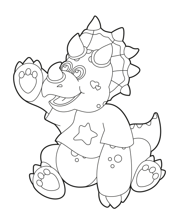 Free Printable Baby Triceratops Coloring Page Download It At