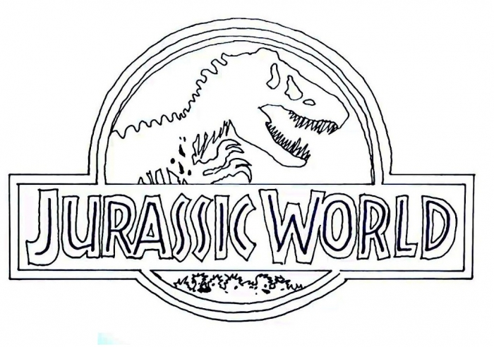 Logo Of Jurassic World Coloring Page