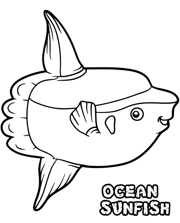 Ocean Sunfish Coloring Page
