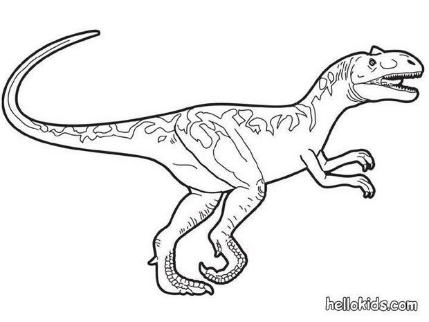 Prehistoric Allosaurus Coloring Pages